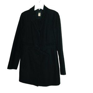 J. Crew GAMINE Front Button Trench Coat Ruffle